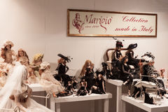 Handcrafted dolls at Macef home show in Milan Stock Image