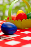 Handcrafted easter eggs Royalty Free Stock Image