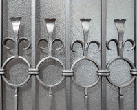 Handcrafted grå skyddsgaller Arkivbild