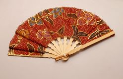 Handcrafted hand fan royalty free stock photo