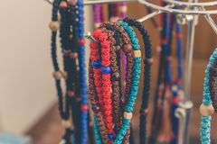 Handcrafted or handmade jewellery - necklace or bead Stock Photos