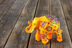 Handcrafted indisk elefant Royaltyfri Foto