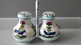 Salt and pepper handpainted royalty free illustration