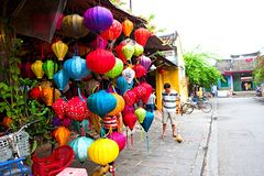 Handcrafted lanterns in ancient town Hoi An, Vietnam Royalty Free Stock Photo