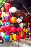 Handcrafted lanterns in ancient town Hoi An, Vietnam Stock Photos