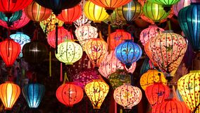 Handcrafted lanterns stock video