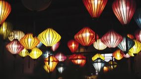 Handcrafted lanterns in ancient town Hoi An, Vietnam. stock video