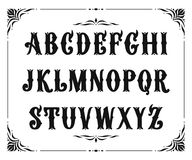 Handcrafted letters with Victorian decor Royalty Free Stock Image