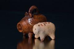 Handcrafted mexikanska leksaker Arkivfoto