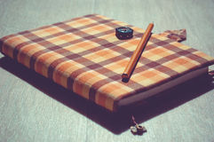 Handcrafted notebook Stock Photography