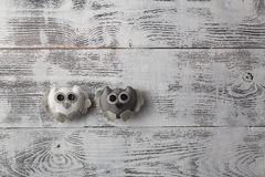 Handcrafted Owl on table Stock Images