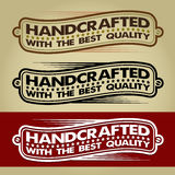 Handcrafted Retro Banner / Label. In three variations of color Royalty Free Stock Images