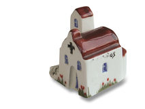 Handcrafted souvenir of church. Made in ceramic Royalty Free Stock Photos