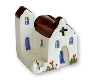 Handcrafted souvenir of churche Stock Photo