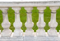 Handcrafted stone pillar railings Royalty Free Stock Image