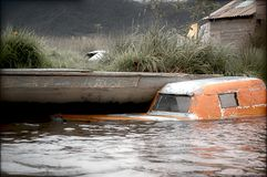 Handcrafted submergiu o barco Fotografia de Stock Royalty Free