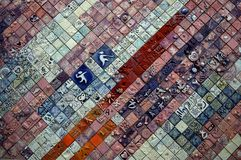 Handcrafted Tiles Mural at Youth Olympic Stock Image