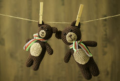 Handcrafted toys Stock Photography