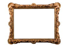 Handcrafted vintage picture frame Royalty Free Stock Images