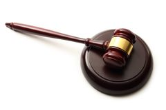 Handcrafted wooden gavel Royalty Free Stock Photos