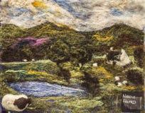 Handcraftedbeeld van een Schots landschap royalty-vrije stock foto's