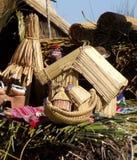 Handcraftedspeelgoed van riet Royalty-vrije Stock Foto's
