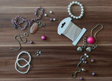 Handcrafting accessories Stock Photography