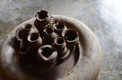 Handcraftkeramiek van klei en zand wordt gemaakt dat royalty-vrije stock fotografie