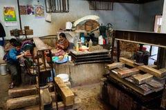 Handcrafts in Bhutan royalty-vrije stock afbeelding