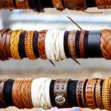 Handcrafts Colorful Bracelets Stock Photography