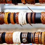 Handcrafts colorful bracelets Stock Photography