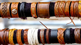 Handcrafts colorful bracelets Royalty Free Stock Photography