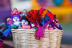 Handcrafts am Markt Sans Juan Chamula, Chiapas, Mexiko stockbild