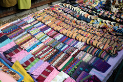 Handcrafts Mexico. Selling handcrafts at Chiapas, Mexico royalty free stock images