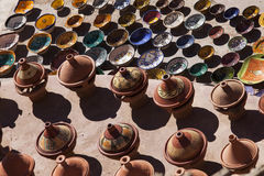 Handcrafts shot at the market in Morocco.  stock photos