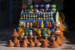 Handcrafts shot at the market in Morocco.  stock images