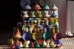 Handcrafts shot at the market in Morocco.  stock photo