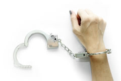 Handcuff royalty-vrije stock afbeelding