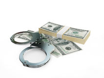 Handcuff and dollars pack Stock Photo