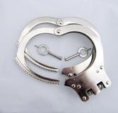 Handcuff Hearts Stock Photo