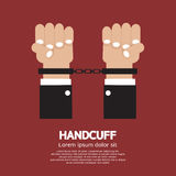 Handcuff. Human hands handcuffed or chained Illustration Royalty Free Stock Photos