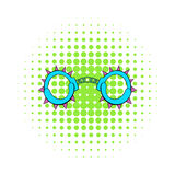 Handcuff icon in comics style. On a white background Royalty Free Stock Photo