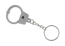 Handcuff keychain Royalty-vrije Stock Afbeeldingen