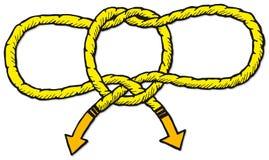 Handcuff Knoop Royalty-vrije Stock Afbeeldingen