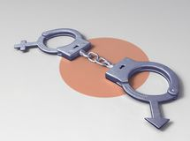 Handcuff of love Royalty Free Stock Photo