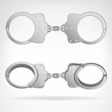 Handcuff set isolated object 3D vector Royalty Free Stock Photo