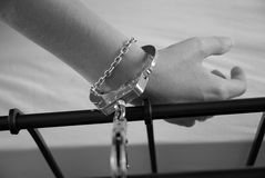 handcuffed royalty free stock image