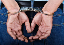 Handcuffed stock image