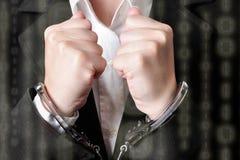 handcuffed Foto de Stock Royalty Free
