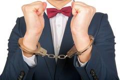 Handcuffed businessman Stock Photography